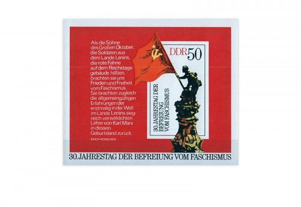 DDR Block 42 30 Jahre Befreiung Faschismus gestempelt