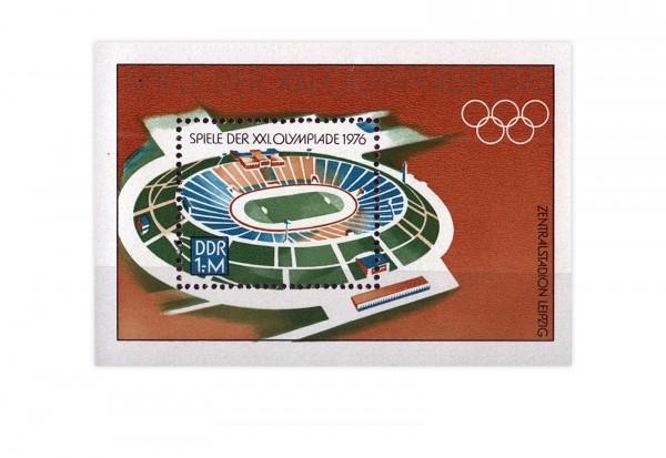 DDR Block 46 Olympiade 1976 gestempelt