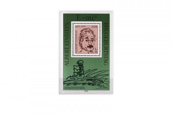 DDR Block 54 100. Geburtstag Einstein 1979 gestempelt