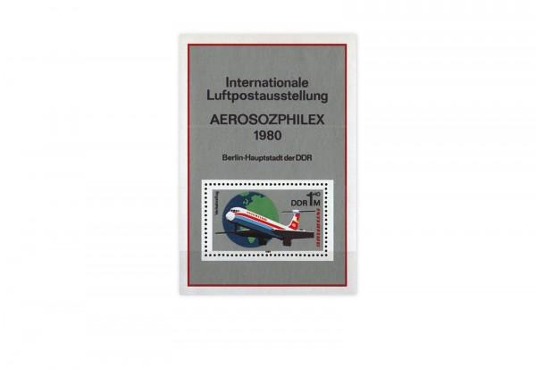 DDR Block 59 Aerosozphilex 1980 gestempelt