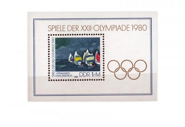 DDR Block 60 XXII Olympiade 1980 gestempelt