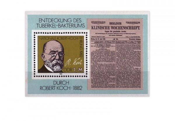 DDR Block 67 100. Jahrestag Tuberkulose 1982 gestempelt