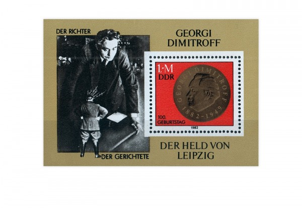 DDR Block 68 100. Geburtstag Dimitrow 1982 gestempelt
