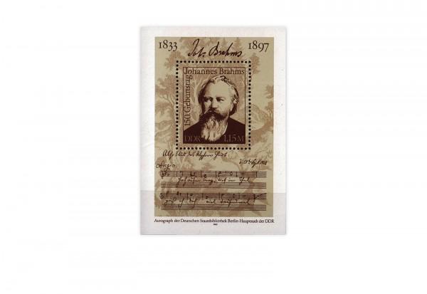 DDR Block 69 150. Geburtstag Brahms 1983 gestempelt
