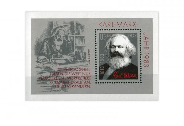 DDR Block 71 Karl Marx 1983 gestempelt