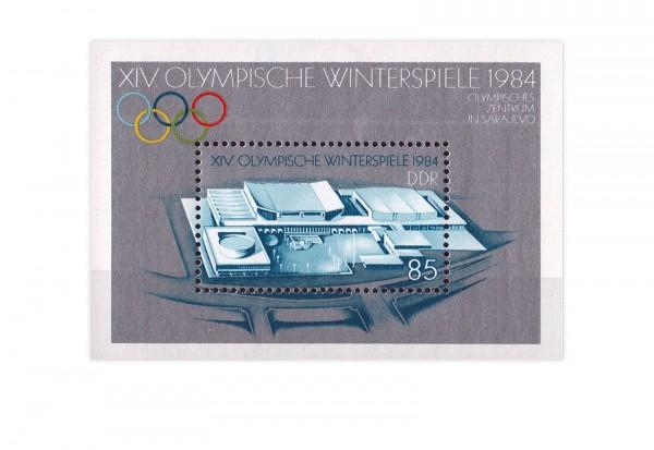 DDR Block 74 Olympische Winterspiele 1984 gestempelt