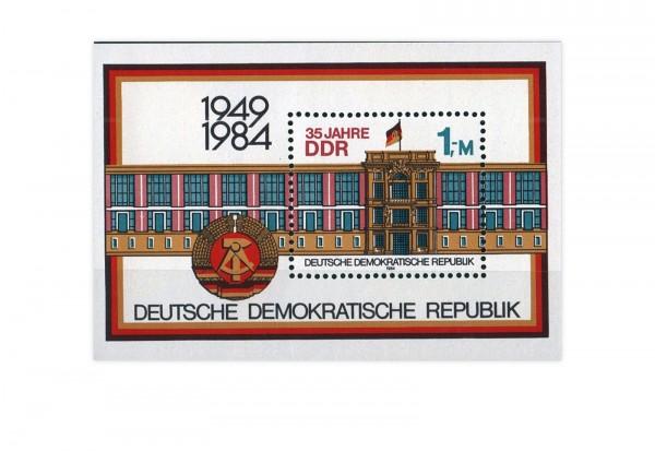 DDR Block 77 Staatsratsgebäude Berlin 1984 gestempelt