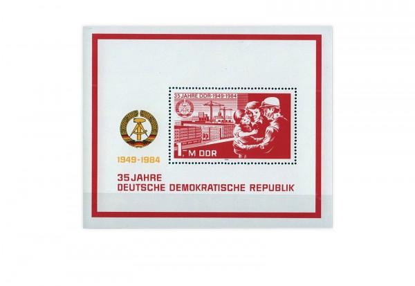 DDR Block 78 35 Jahre DDR 1984 gestempelt