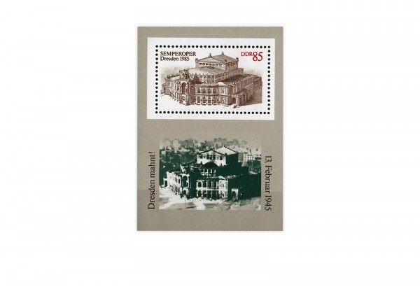 DDR Block 80 Semperoper Dresden 1985 gestempelt