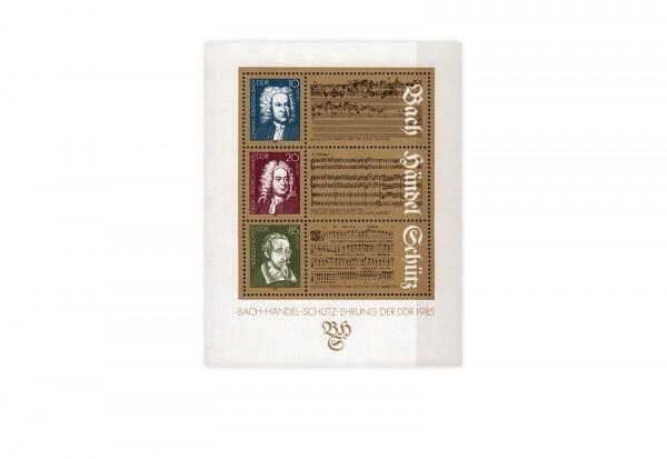 DDR Block 81 300 Geburtstag Bach + Händel 1985 gestempelt