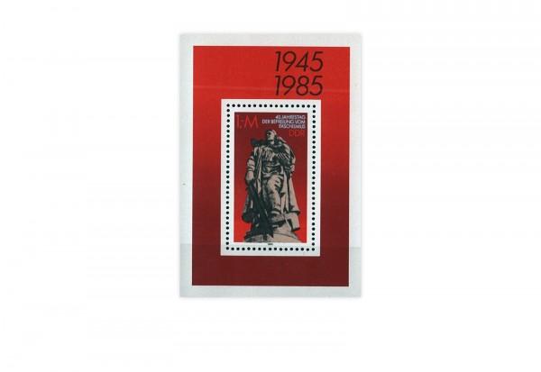 Briefmarken DDR 40. Jahrestag der Befreiung vom Faschismus 1985 Block 82 gestempelt