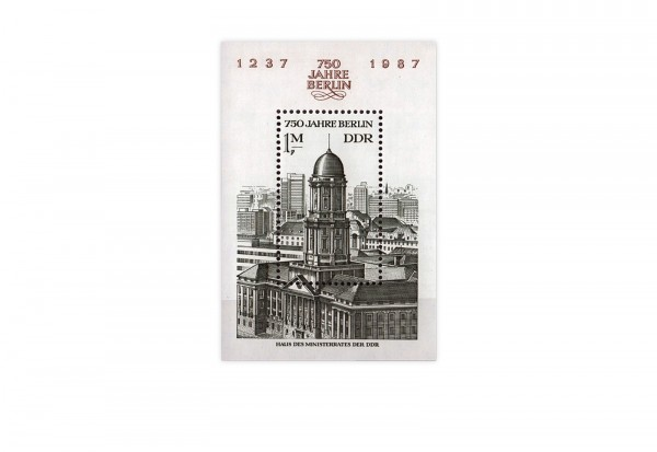 DDR Block 84 750 Jahre Berlin 1986 gestempelt