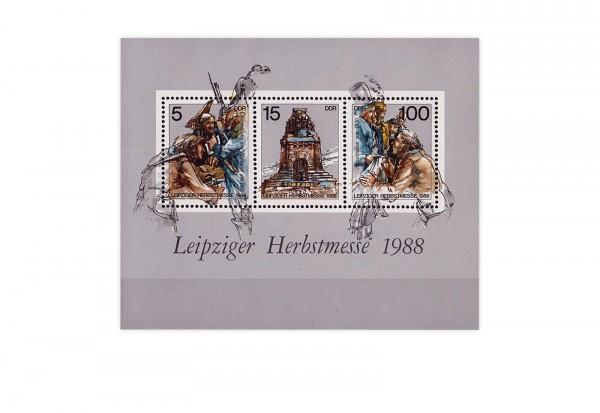Briefmarken DDR Leipziger Herbstmesse 1988 Block 95 gestempelt