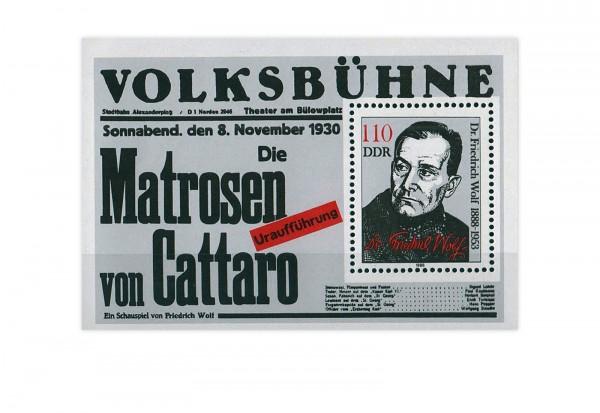 DDR Block 96 100 Geburtstag Friedrich Wolf 1988 gestempelt