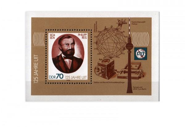 DDR Block 101 Philipp Reis-Block 1990 gestempelt