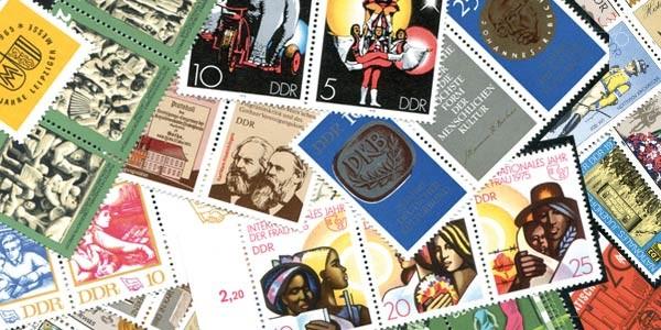 Briefmarken DDR Zusammendrucke 50 verschiedene Marken postfrisch und gestempelt