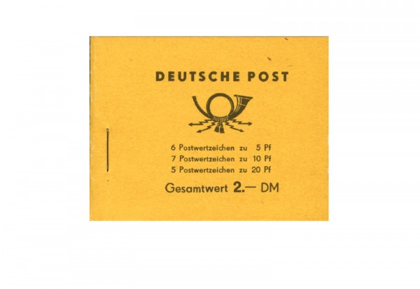 DDR Markenheftchen 1957 MH Mi.Nr. 2 Postfrisch