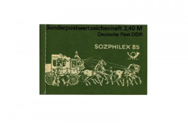 DDR Markenheftchen Sozphilex 1985 MH Mi.Nr. 8 postfrisch