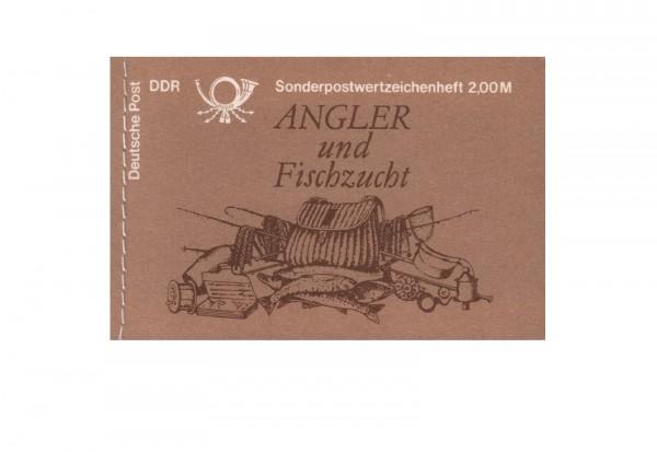 DDR Markenheftchen Süßwasserfische 1988 MH Mi.Nr. 9
