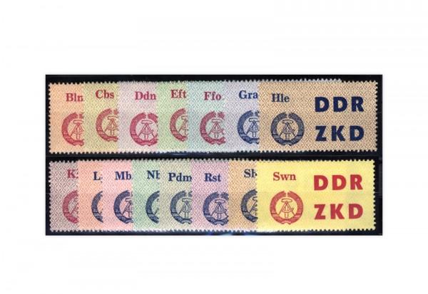 DDR ZKD Laufkontrollzettel Dienst C 1-15 **