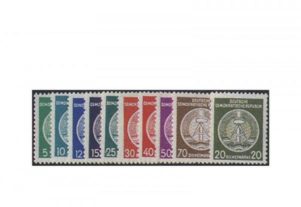 DDR Dienstmarken 1954 Dienst A 18/28 x (ohne 22 x) postfrisch