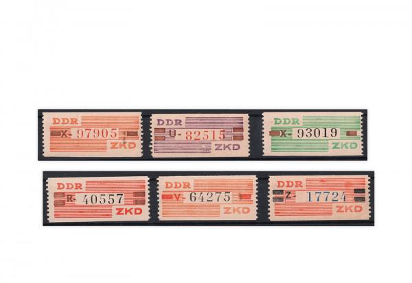 DDR Dienstmarken Dienst B 1/15 gestempelt