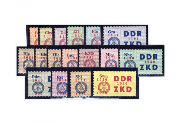 DDR Laufkontrollzettel 1964 Dienst C 16/30 postfrisch