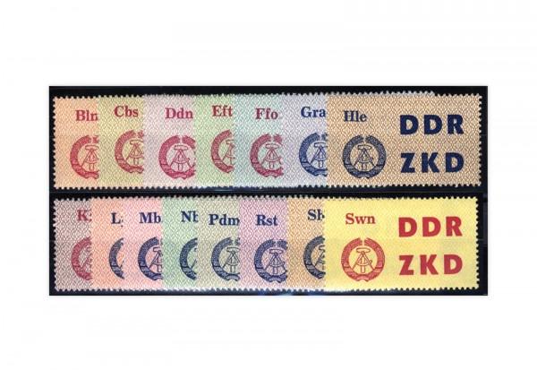DDR Laufkontrollzettel ZKD 1963 Dienst C 1/15 gestempelt