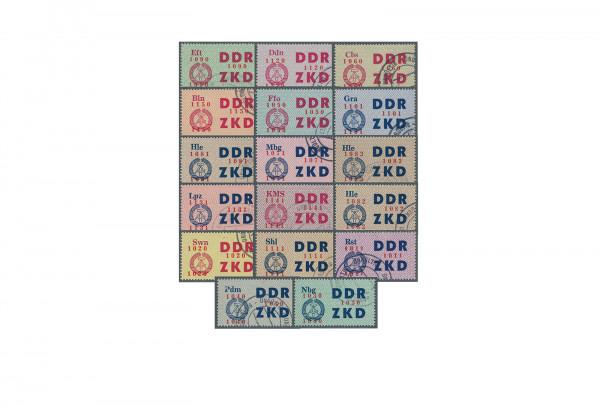 """Briefmarken DDR Laufkontrollzettel 1964 Dienst C 16/30 gestempelt und """"ungültig"""""""