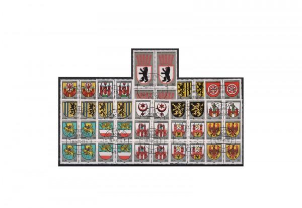 DDR Kostbarkeiten von slawischen Stätten 1978 Michel Nr. 2303 bis 2307 gestempelt mit Druckvermerk