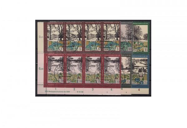 DDR Landschaftsparks 1981 Michel Nr. 2611 bis 2616 DV gestempelt