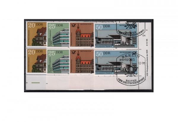 DDR Bauten der Deutschen Post 1982 Michel Nr. 2673 bis 2676 DV gestempelt