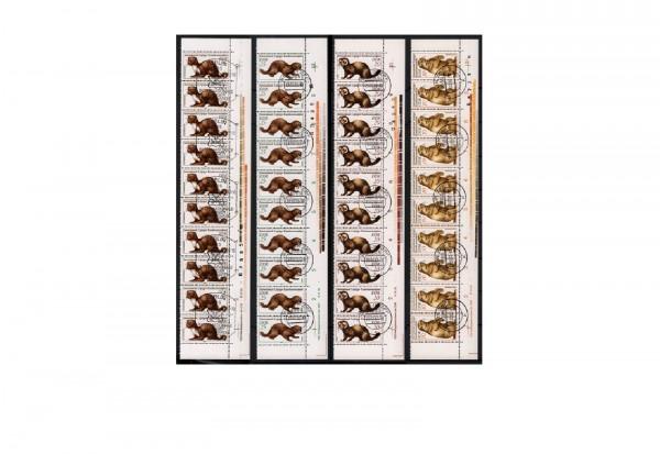 Briefmarken DDR Tiere mit Druckvermerk und Farbcodierstreifen 1982 Michel-Nr. 2677-2680 gestempelt