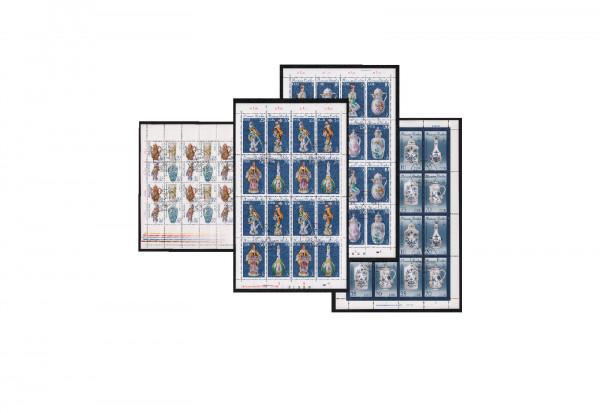 DDR Meissener Porzellan I-III 1979 bis 1989 Michel Nr. 2464/2471, 2667/2670 und 3241/3244 gestempelt