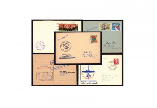 Bildpostkarten DDR Schiffspost 1960-1990 gestempelt