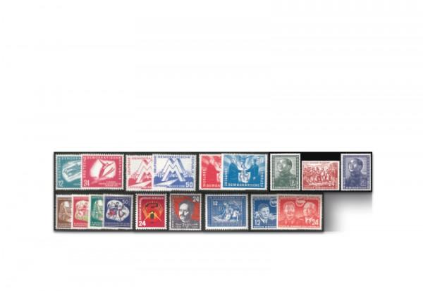 DDR Jahrgang 1951 Mi.Nr. 280-297 **