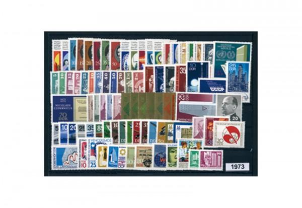 DDR Briefmarken Jahrgang 1973 postfrisch