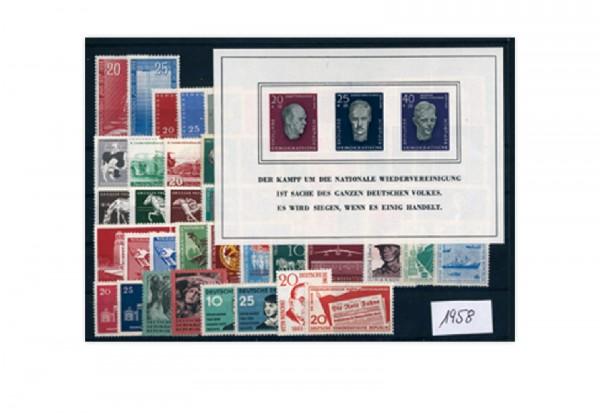 DDR Jahrgang 1958 postfrisch