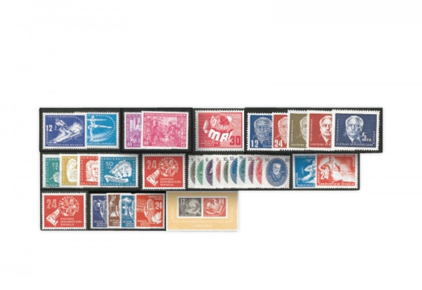 DDR Jahrgang 1950 Mi.Nr. 246-279 gestempelt