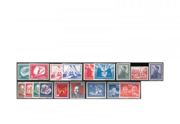 DDR Jahrgang 1951 Mi.Nr. 280-297 gestempelt