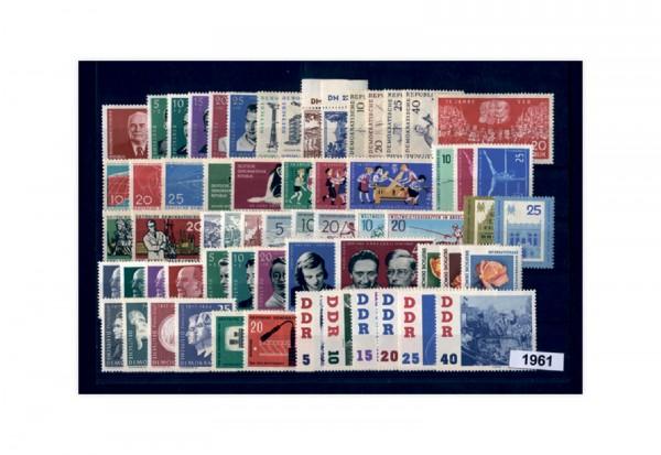 Briefmarken DDR Jahrgang 1961 Michel Nr. 807-865 gestempelt