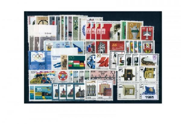 Briefmarken DDR Jahrgang 1985 Michel-Nr. 2920-2992 gestempelt
