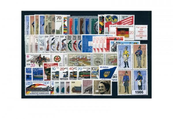 DDR Jahrgang 1986 gestempelt