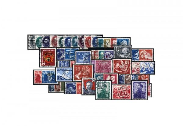 Briefmarken DDR-Kollektion Michel-Nr. 242-297 ohne Block 7 gestempelt