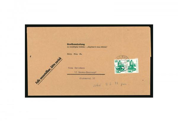 Beleg Berlin Unfallverhütung 1971 Michel-Nr. 405 A Paar gestempelt