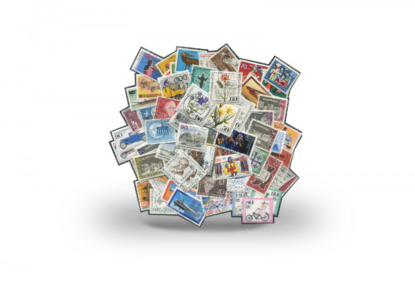 Briefmarken Berlin 100 Marken postfrisch und gestempelt