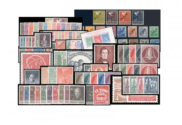 Briefmarken Berlin 1948 - 1953 Michel-Nr. 1-113 postfrisch