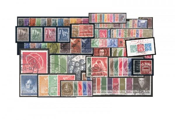 Berlin 1948-1953 komplett Michel Nr. 1-113 inklusive Block 1 gestempelt