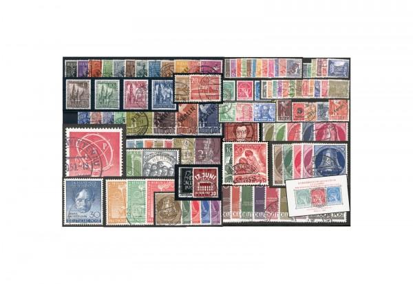Berlin Jahrgänge 1948- 1954 Mi.Nr. 1-125 (inkl. Block 1) gestempelt