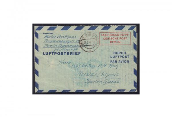 Berlin Luftpostbrief Michel-Nr. 1 II gestempelt